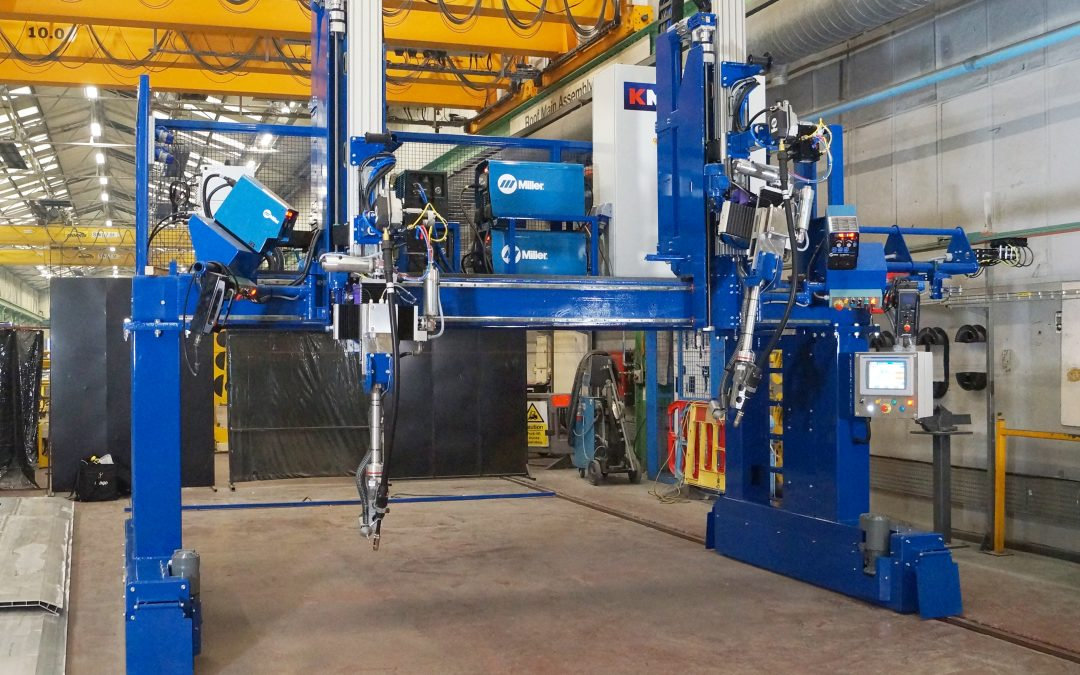 KM Tools welding gantry supplied to Bombardier Transportation